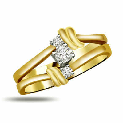 Classic Diamond Gold rings SDR906