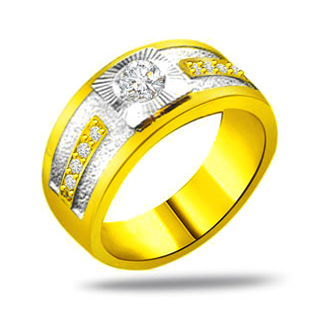 Classic Diamond 18kt Gold rings