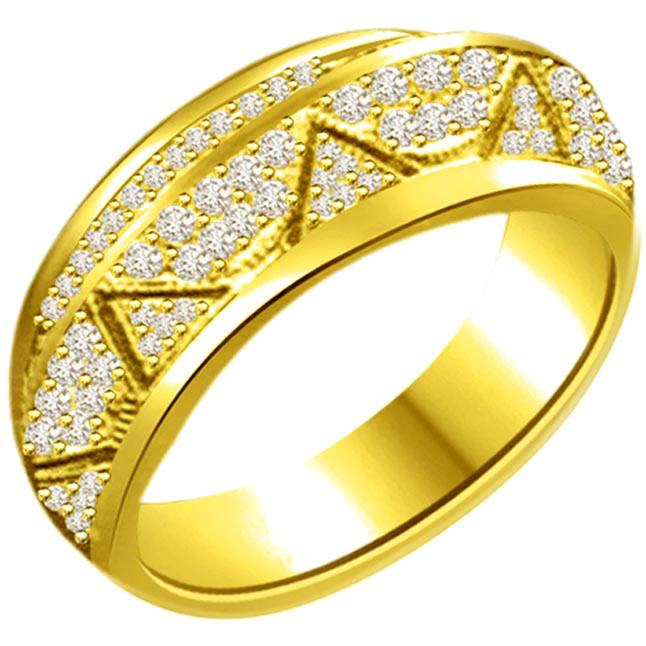 Classic Diamond 18kt Gold rings SDR1224 -Couture Collection