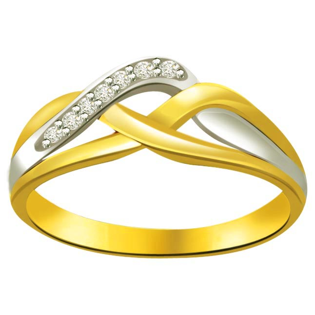 Classic Diamond Gold rings SDR622 -White Yellow Gold rings