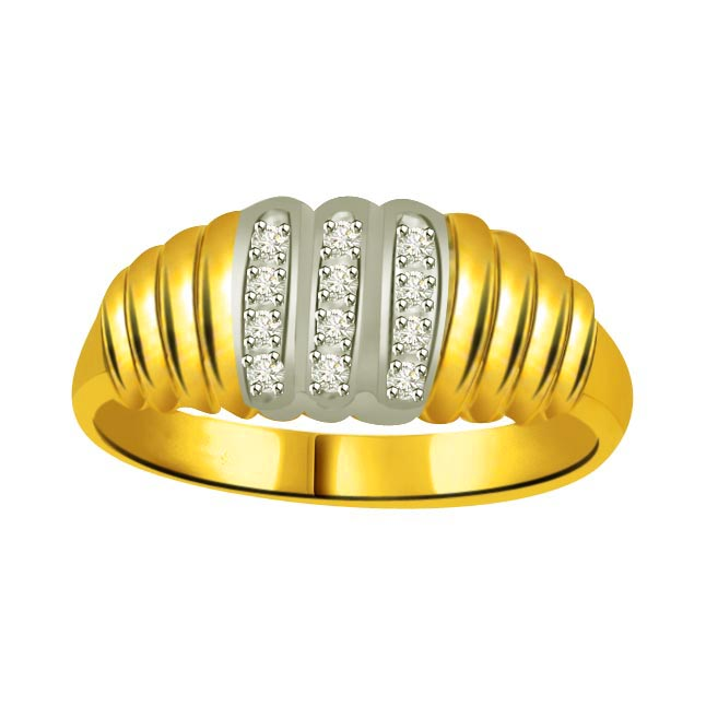 Classic Diamond Gold rings SDR863 -White Yellow Gold rings