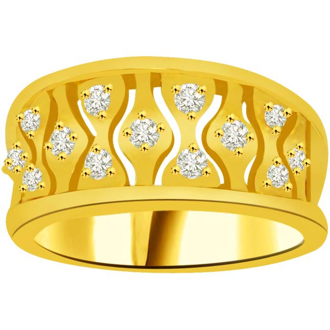 Classic Diamond Gold rings SDR914
