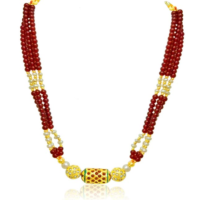Classic Rajasthani Polki Set -Necklace