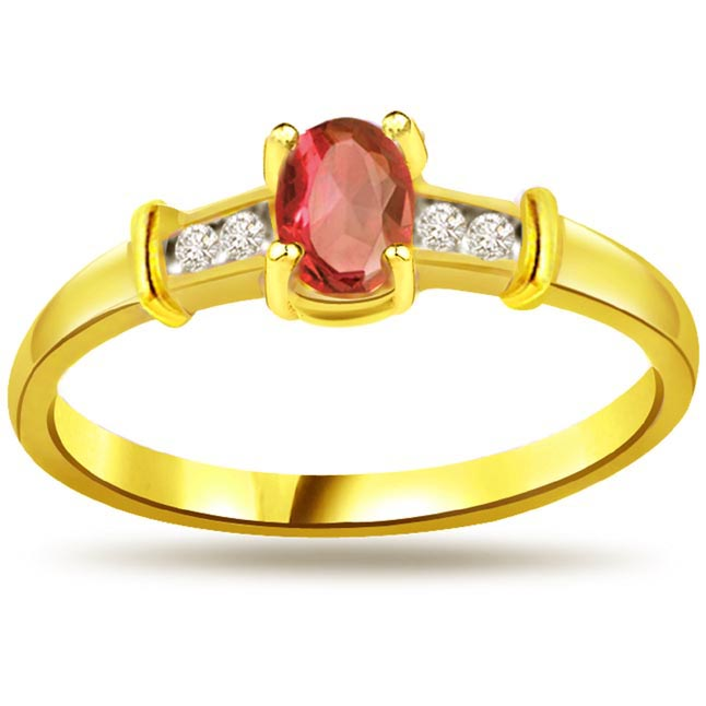 Classic Ruby & Diamond rings SDR999