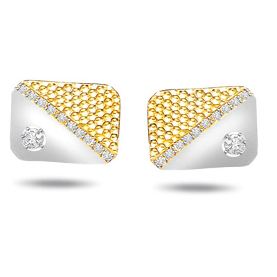 Clutch N Cuff -0.28ct VS Diamond Gold Cufflinks -For Men