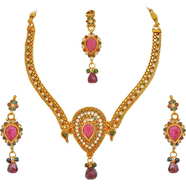 Coloured Stone Jewellery Set