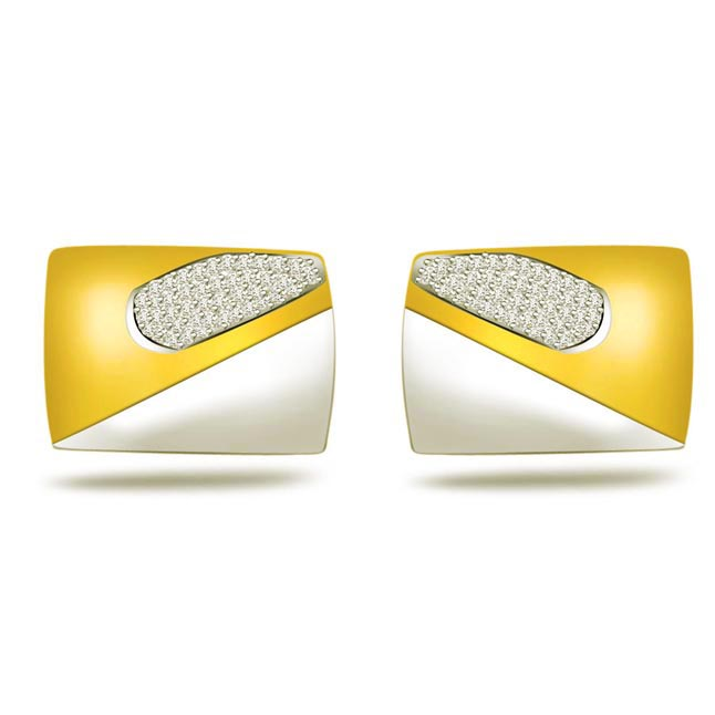 Corporate Chic -0.45ct VS Clarity Diamond Cufflinks -Cufflinks