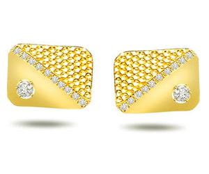Coveted Cufflinks -0.20ct VS Clarity Diamond Gold Cufflinks -Cufflinks