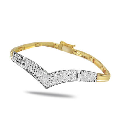 Crown Princess -1.10 ct VS Clarity Diamond Bracelet -Diamond Bracelets