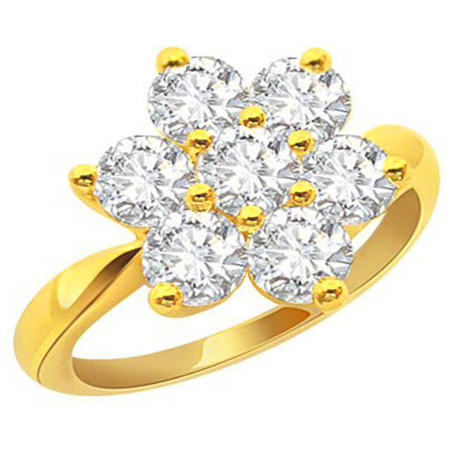 Crushing on You Flower Shaped Diamond rings