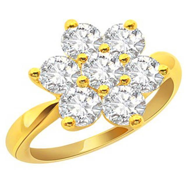 floral ring flower shape diamond rings diamond rings online surat diamond. Black Bedroom Furniture Sets. Home Design Ideas