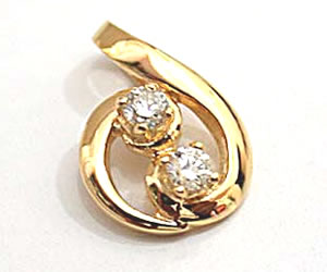 Cute Cookie Diamond Pendants in 18kt Gold -Designer Pendants
