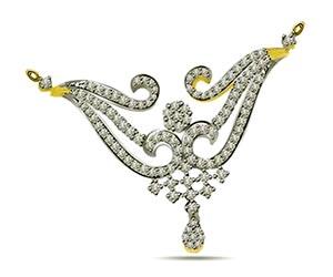 Dancing Dazzler 0.70 cts Diamond Necklace Pendants