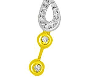 Dancing Love 0.23ct Fancy Diamond Pendants -Designer Pendants