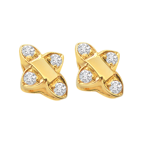 Dapper Dame Diamond Earrings -Designer Earrings