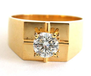 Dazzle Power 0.50 ct Solitaire Diamond Men's rings SDR -191 -Solitaire rings