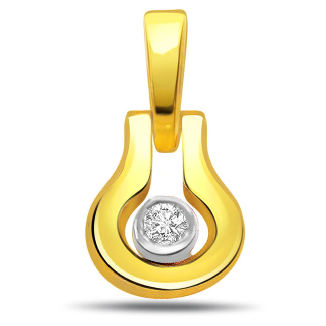 Dazzling Diamond Solitaire Pendants -Solitaire