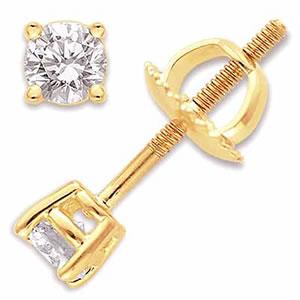 Dazzling Diamond Earrings -Solitaire Earrings