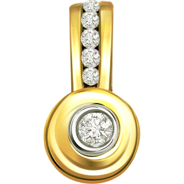 Dazzling Look 0.20 ct Diamond Designer Pendants -Designer Pendants