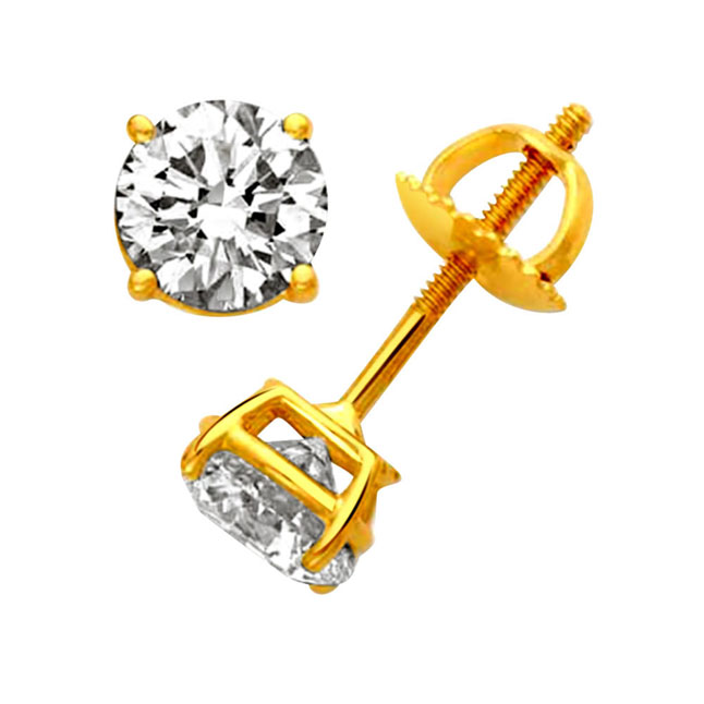 Lovely lass Diamond Earrings -Solitaire Earrings