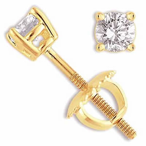 Dazzling Diamond Earrings -Solitaire Earrings