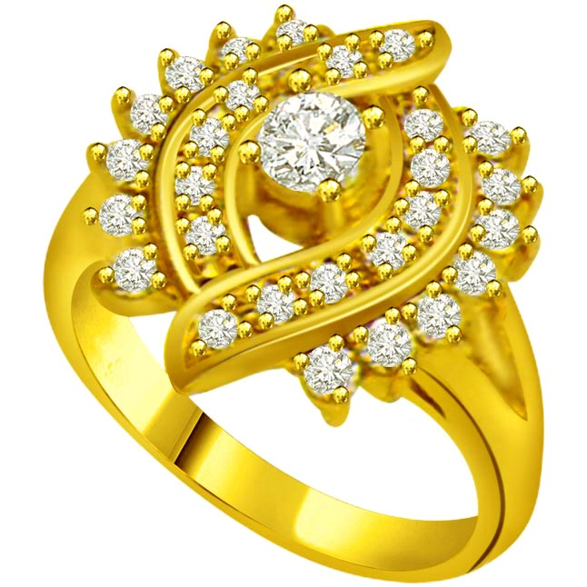 Floral Ring Flower Shape Diamond Rings Diamond Rings line