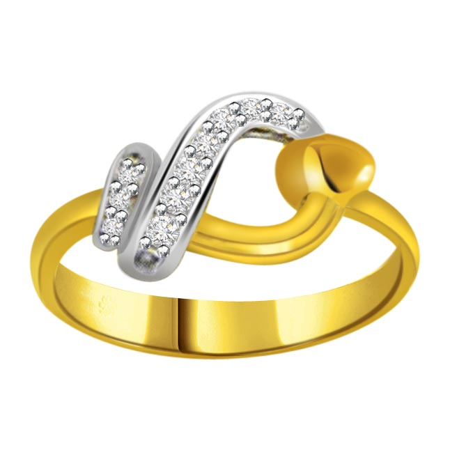 Designer Diamond Gold rings SDR559 -White Yellow Gold rings
