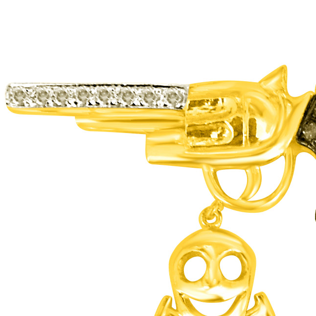 Devil in Your H :Feel the Raw Energy Diamond Gun Pendants -Sport Collection