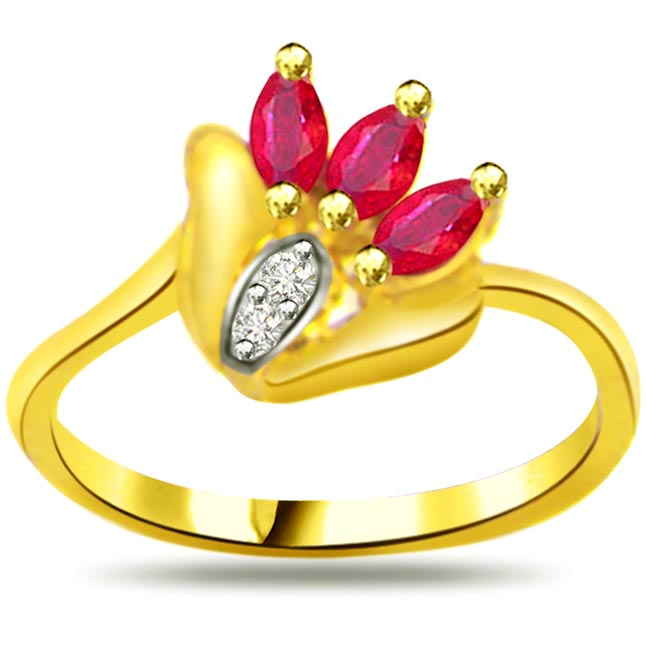 Diamond & Marquise Ruby rings SDR961