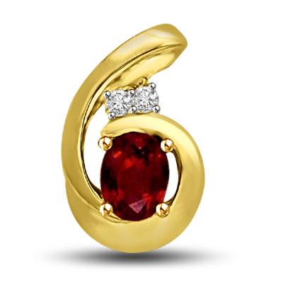 Diamond & Ruby Pendants -P951 -Diamond -Ruby