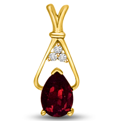 Diamond & Ruby Pendants -P960 -Diamond -Ruby