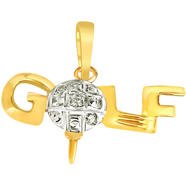 Diamond & Silver Golf Pendants -Sport Collection