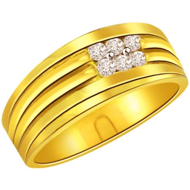 Diamond 0.30 ct Men's rings