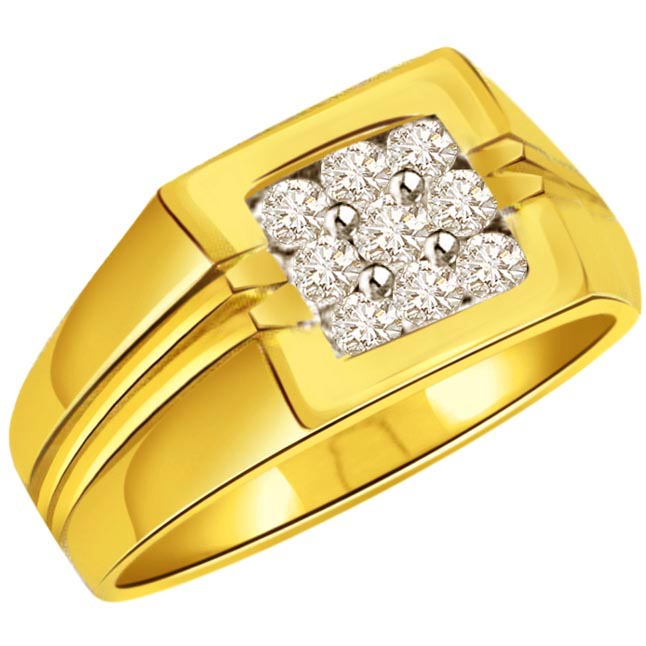 Diamond 0.45 ct Men's rings