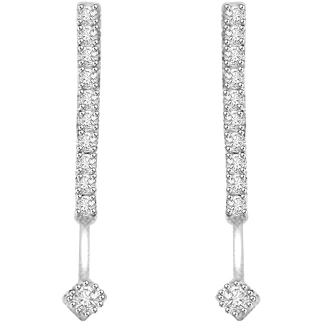 Diamond Bouquet 0.50 ct Diamond White Gold Earrings