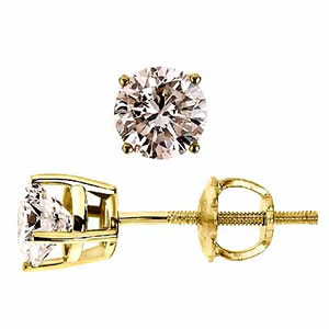 Diamond Duchess Earrings -Solitaire Earrings