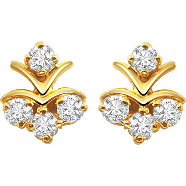 Diamond Pleasure Earrings -Designer Earrings