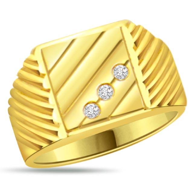 Diamond Gold Men S Rings Sdr Solitaire Rings