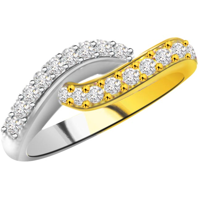 Diamond Half Eternity rings SDR756 -2 Tone Half Eternity