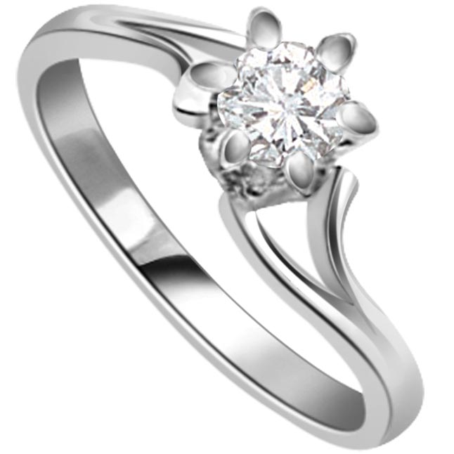 Diamond Happy in heaven rings -White Gold Big Sol