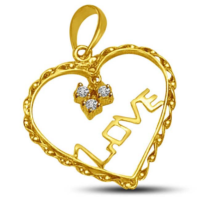 DIAMOND HEART :An Expression of Beautiful Love.. Pendants for You
