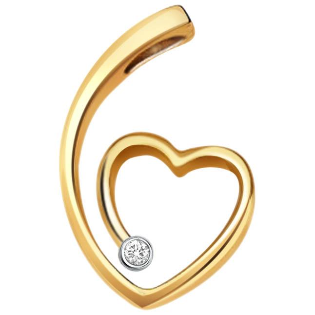 Diamond In Your Heart -diamond Pendants  Surat Diamond Jewelry