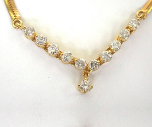 Diamond Necklace DN25 -Solitaire Mangalsutra
