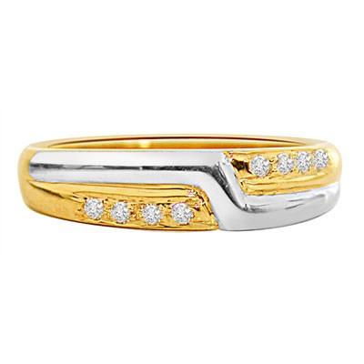 Diamond Pretty Pixie -White Yellow Gold rings