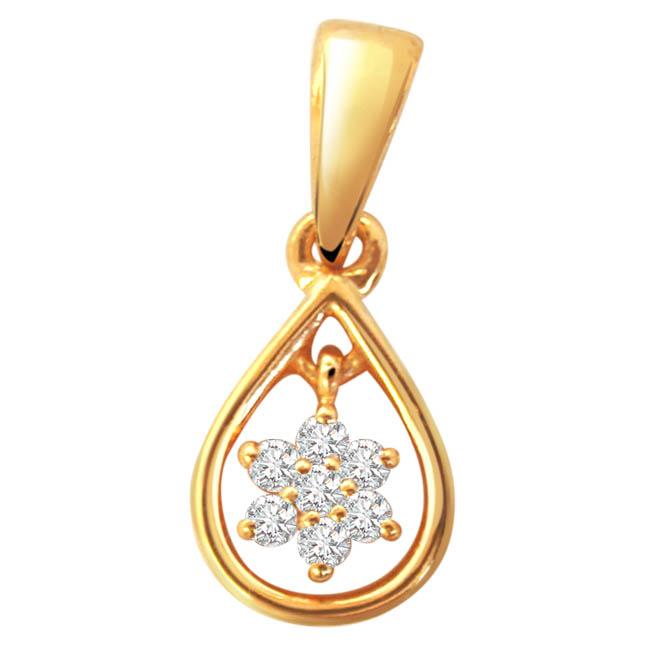 Diamond Pure Passion -Flower Shape Pendants
