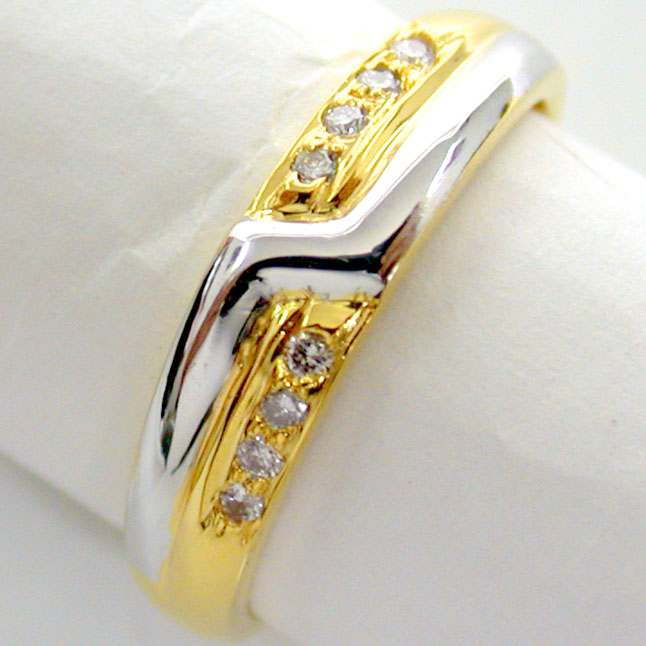 Diamond Pretty Pixie -White Yellow Gold rings