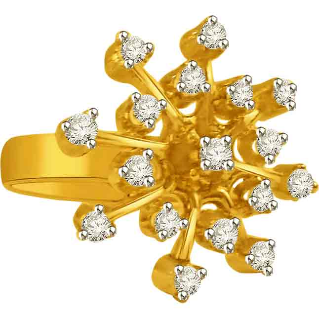 0.51 cts Flower Shape Diamond rings