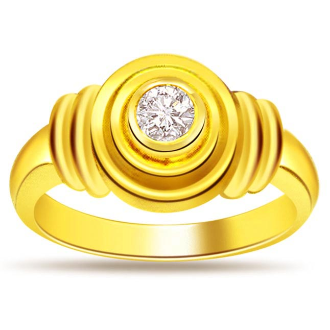 Diamond Solitaire Gold rings SDR470