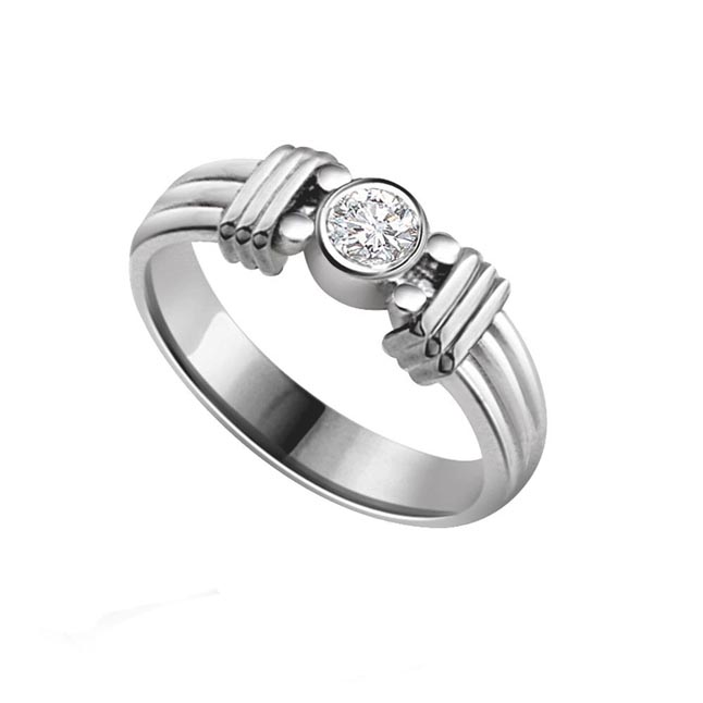 Diamond Solitaire Ring In 925