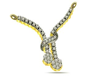 Diamond Stich Forever 0.42 cts Diamond Necklace Pendants